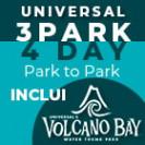 UNIVERSAL Promocional - 3 Parques, 4 Dias Park to Park (Upgrade com Volcano Bay)